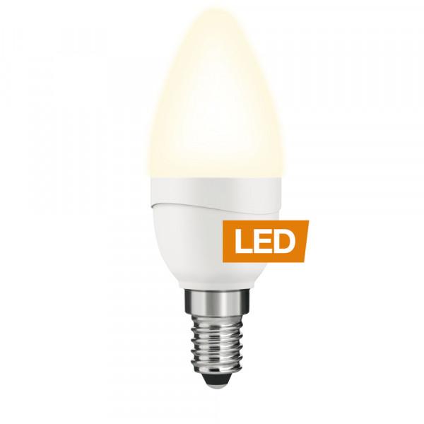 LEDON LED-Lampe Kerze B35 E14 5W nicht dimmbar an