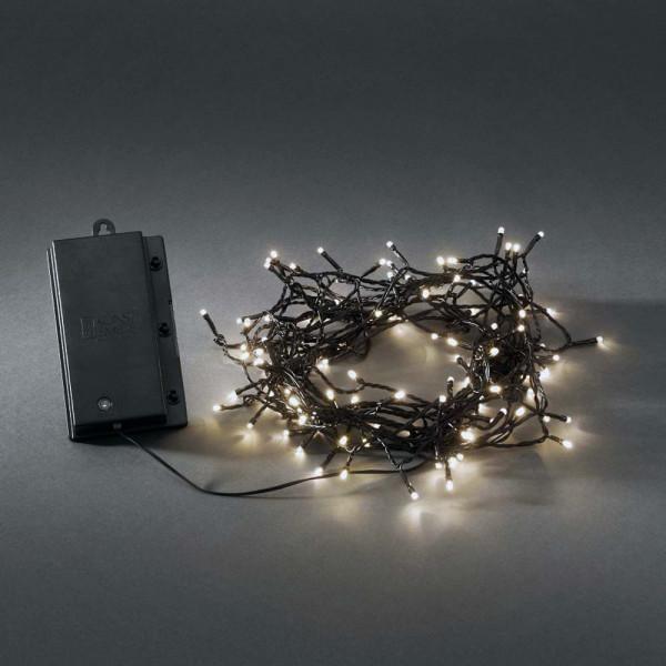 Konstsmide LED-Lichterkette batteriebetrieben 1200cm lang