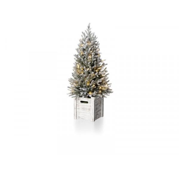 Weihnachtsbaum Snowy Tree klein Grün, 60 LED