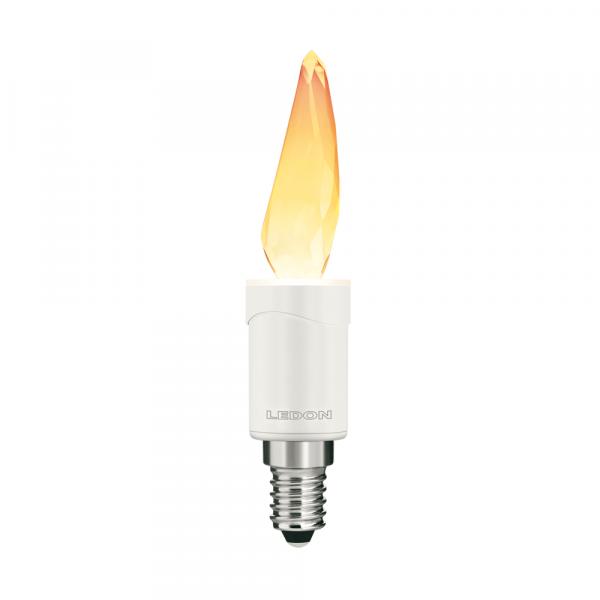 LEDON LED Lampe: Flame, Kristallflamme (Swarovski), 3W