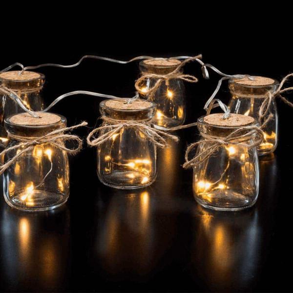 Battery Glass Jar