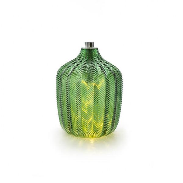 Grünes Glas mit Lichterkette, klein (Indoor)
