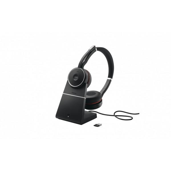 Jabra Headset Evolve 75 Duo UC inkl. Ladestation