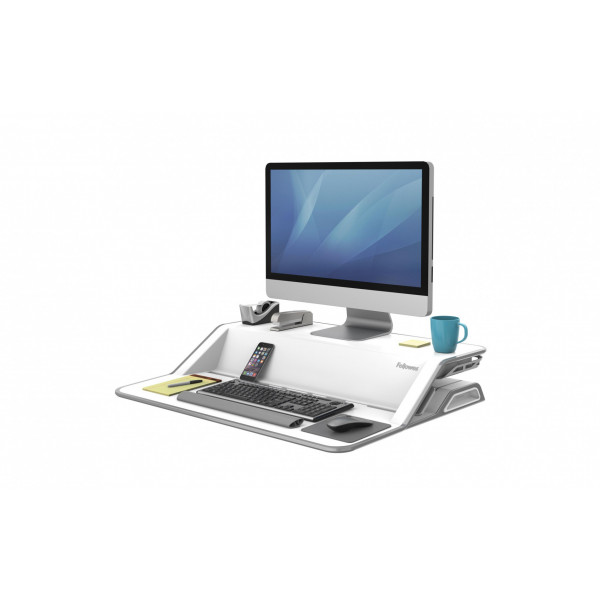 Fellowes TV-/Display-Standfuss Workstation Lotus Weiss