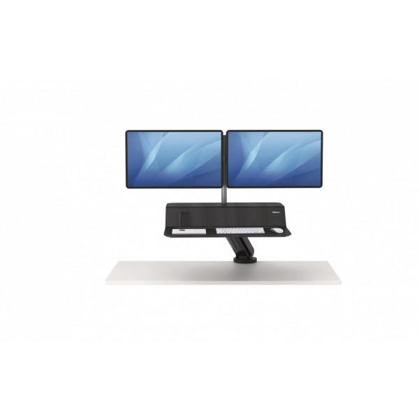 Fellowes Doppel-Monitorarm Lotus RT Schwarz, für 2 Monitore