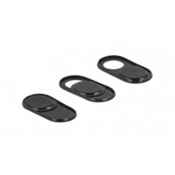 Delock Adapter Webcam-Abdeckung 3er Set, selbstklebend, schwarz
