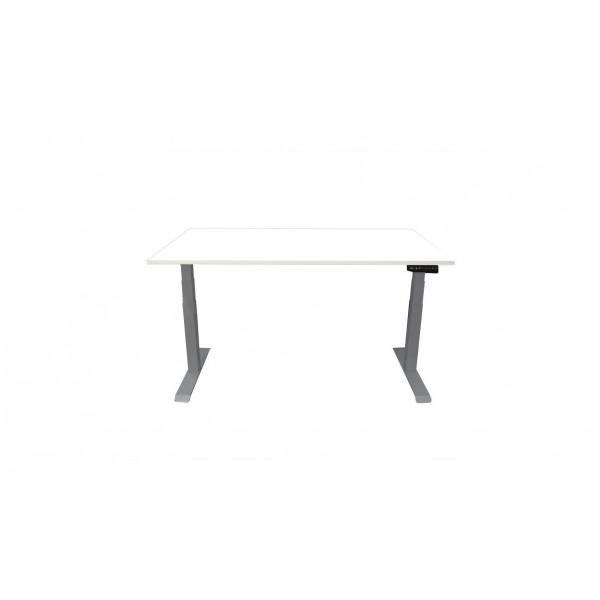 Contini Tisch RAL 7045 1.8 x 0.8 m Hellgrau mit weisser Tischplatte