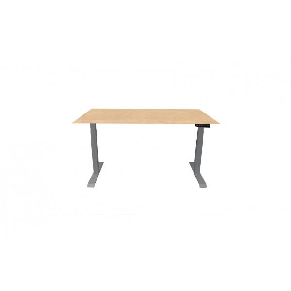 Contini Tisch RAL 7045 1.6 x 0.8 m Hellgrau mit Tischplatte Ahorn