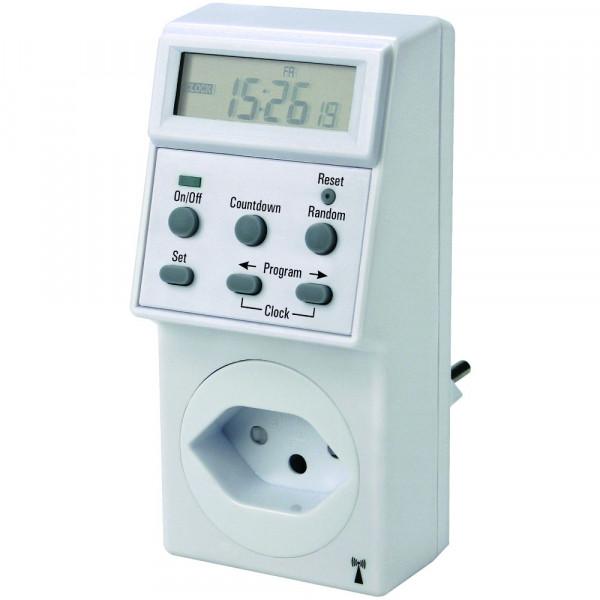 Steffen digitale Zeitschaltuhr mit Funkuhr-Empfang IP20